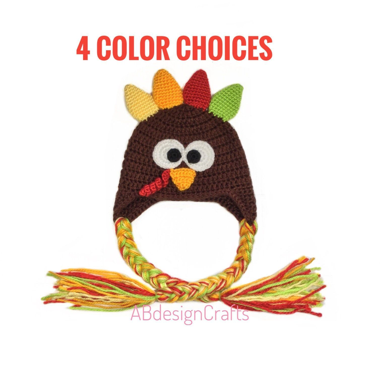 2cd4b505177d9 Baby boy baby girl Turkey hat Crochet baby outfit Thanksgiving ...