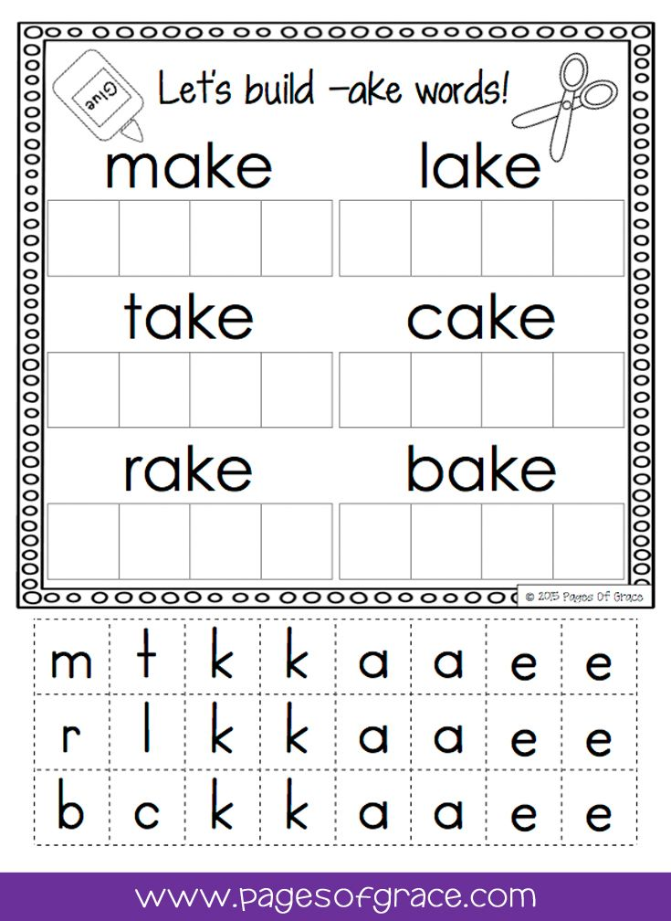 Cvce Word Work Activity Packet No Prep Long Vowels Word Check And