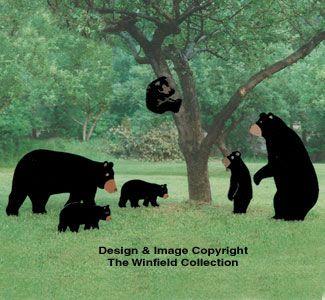 Yard Bear Pattern Collection Wood Yard Art Wood Craft