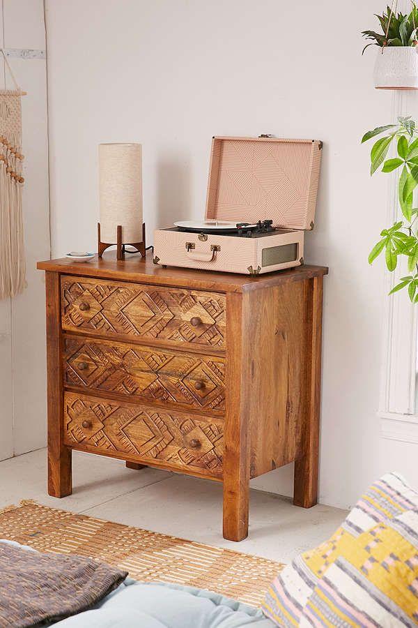 Slide View: 1: Amira Carved Wood Dresser