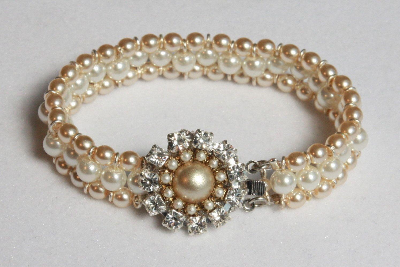 Bridal JewelryBridal BraceletWedding JewelryMulti by mylittlebride