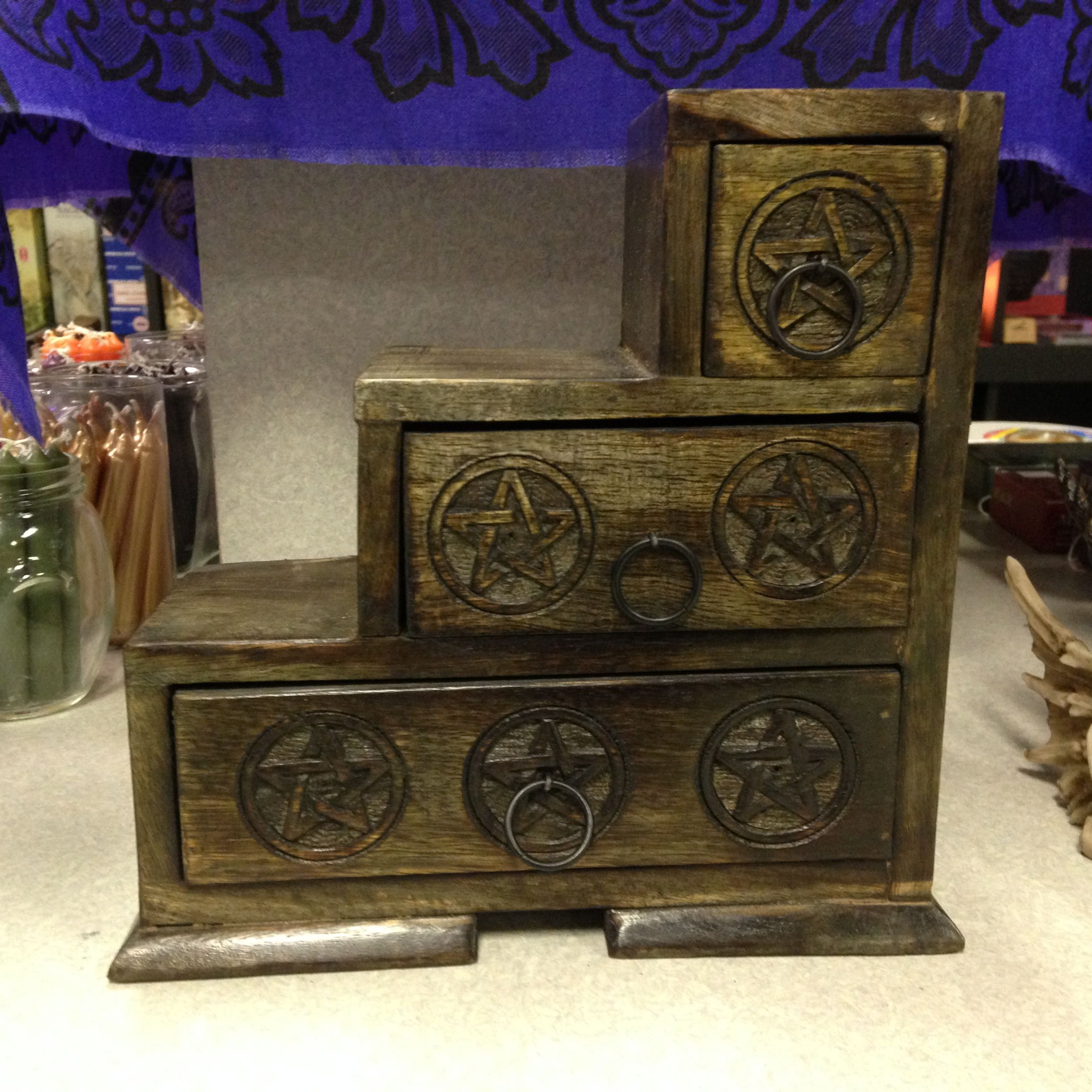 Wooden Pentagram Storage Box Available At Charmed In Lynchburg, VA (4343)  610
