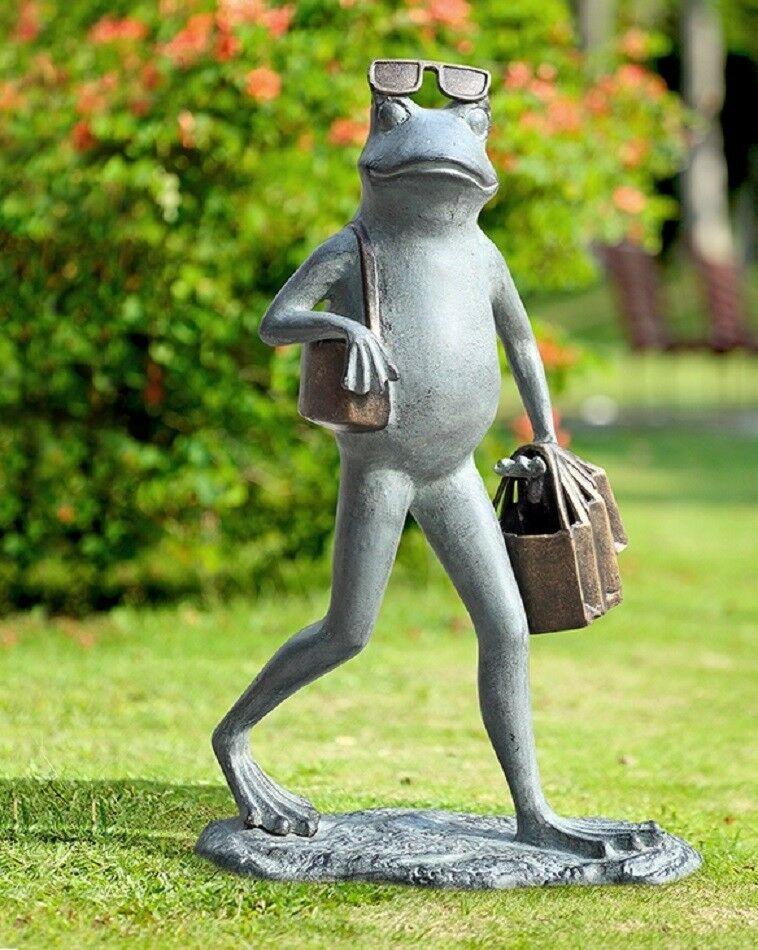 Frog Suave Shopper Garden Sculpture Statue Whimsical Frog Toad 22 H Spihome Whimsical Garden Sculpture Small Garden Gnomes Miniature Fairy Gardens