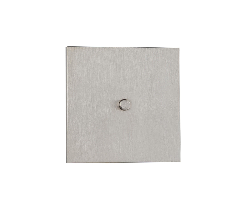 Neva Nb Nickel Brosse Designer Push Button Switches From Luxonov