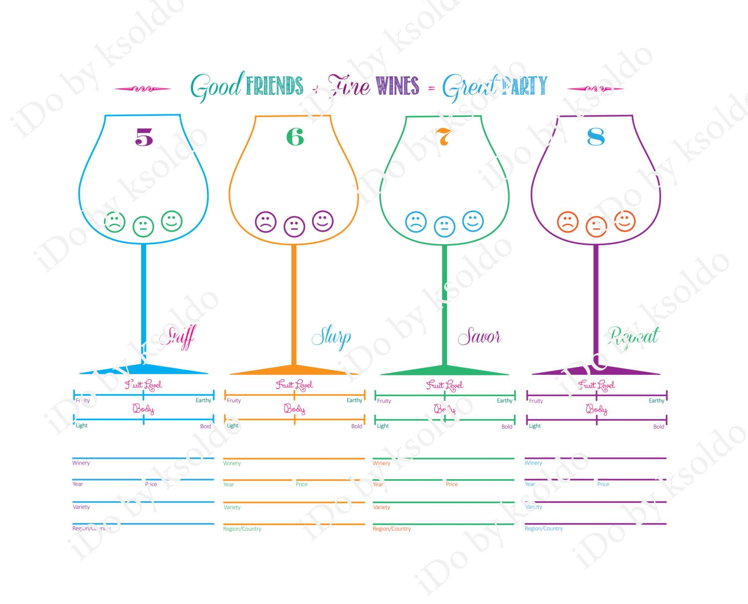 This is an image of Influential Wine Tasting Sheets Printable