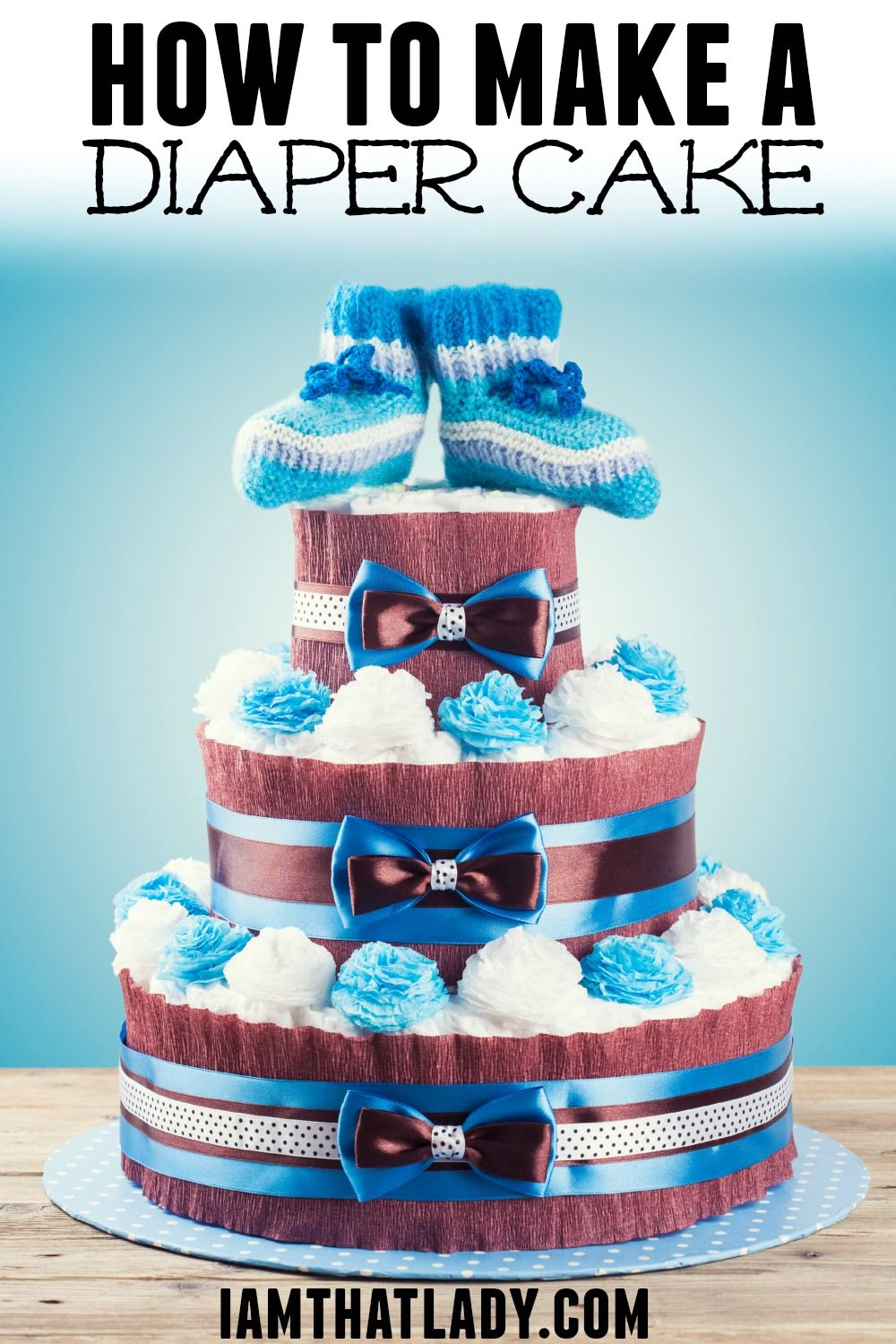 Here are the step by step instructions on how to make a diaper cake. Learn how many diapers you will need, and how to keep it together.