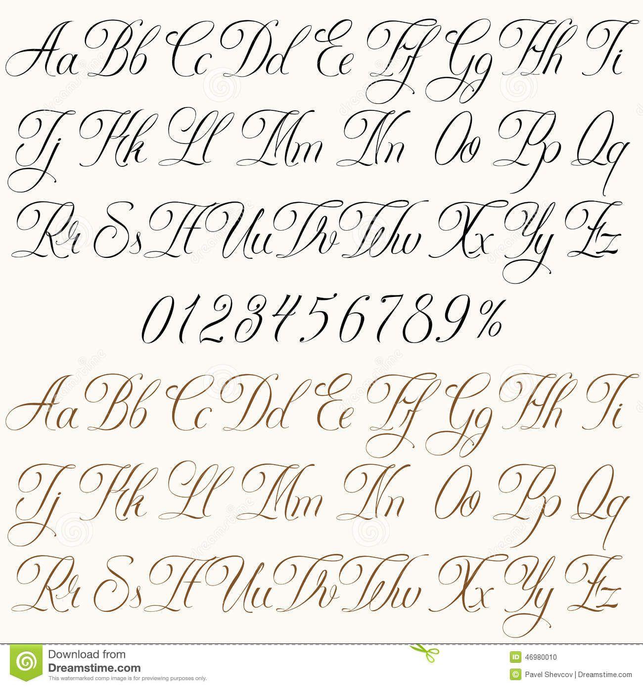 Populaire font numeri corsivo - Cerca con Google | Caligrafia | Pinterest RJ66