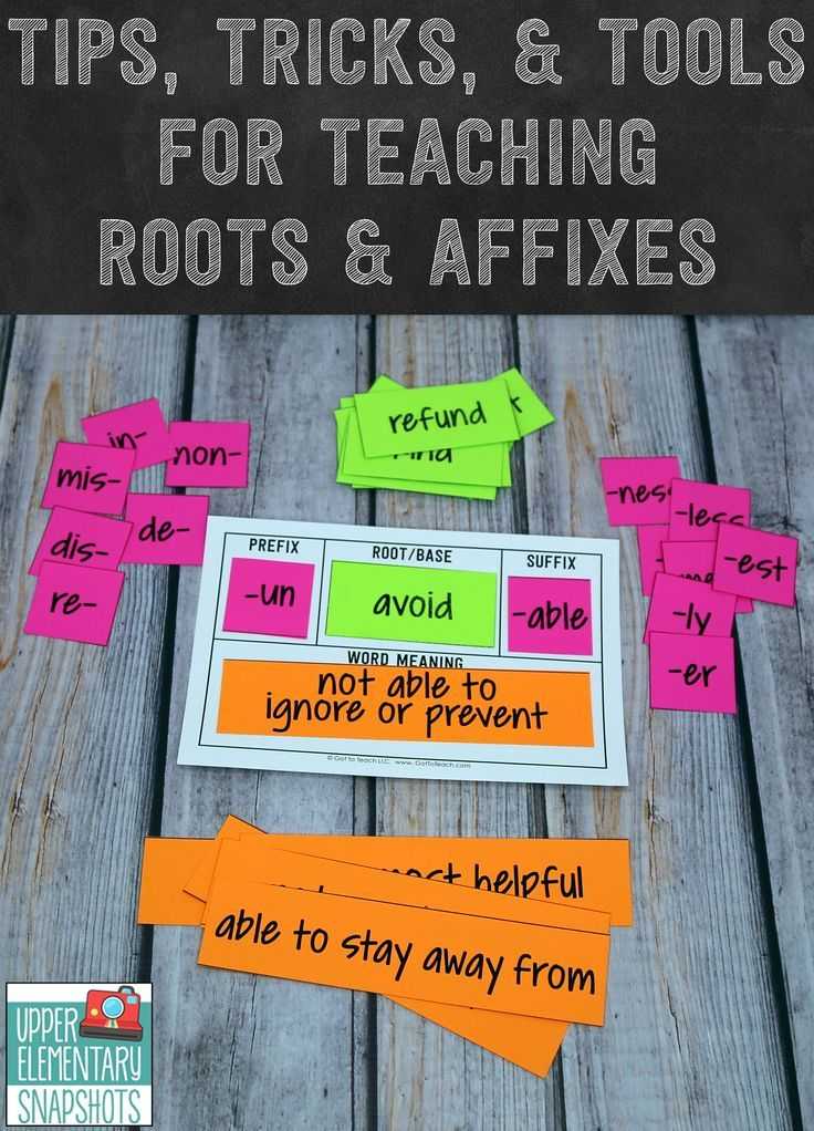 Tips, Tricks, and Tools for Teaching Roots and Affixes | Alphabet ...