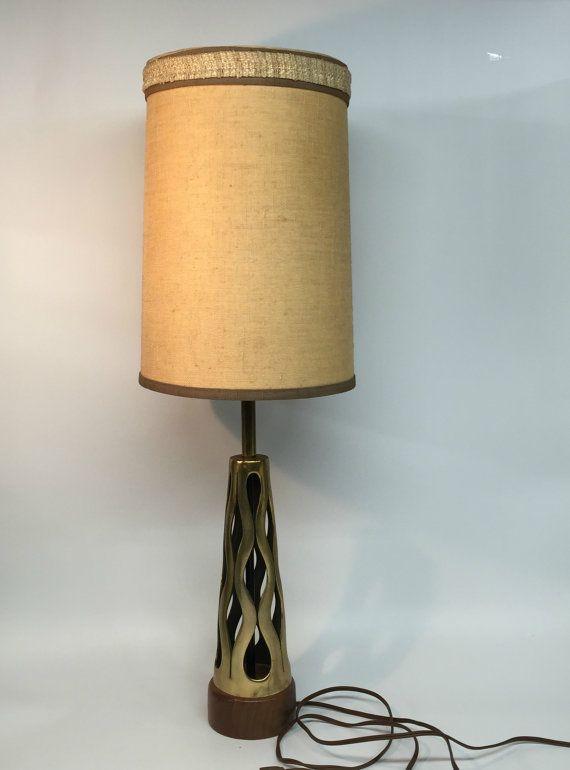 Mid Century Modern Lamp Retro Table Lamp Vintage Modern Lamp Brass Teak Desk Lamp Mid Century Modern Table Lamp Vintage Desk Lamp Retro Table Lamps Mid Century Modern Lamps Modern Lamp