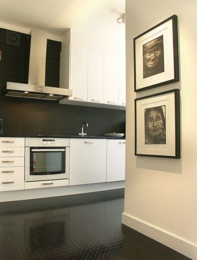 Pin By Traci Millers Streets On Black And White Floor Kitchen