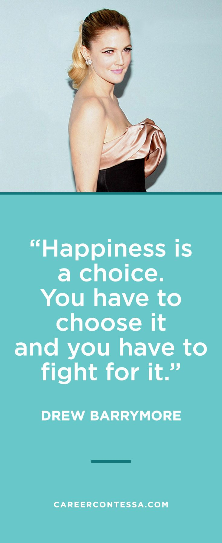She Always Had Really Nice Makeup: We Love This Quote From Drew Barrymore About Happiness
