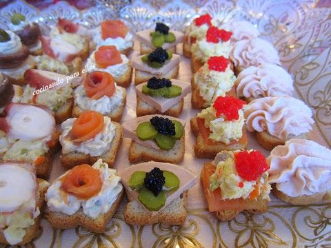 Canap s variados recetas pinterest aperitivos - Variedad de canapes frios ...