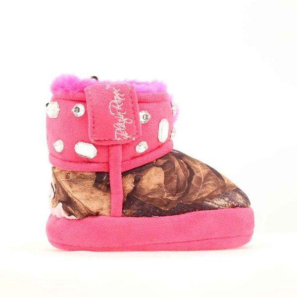 dc03bd86c1647 Blazin Roxx Infant-Girls' Bejeweled Mossy Oak Camo Slippers Pink ...