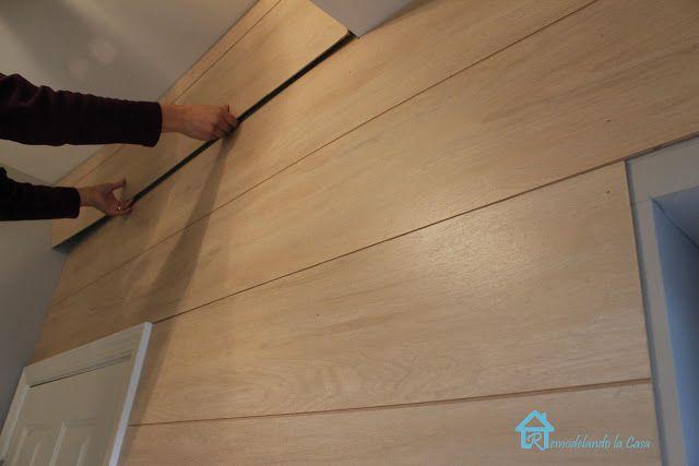 Remodelando la Casa: Tongue and Groove Paneling Wall!