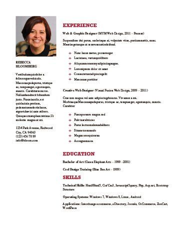 Chronological Resume By HloomCom  Designing