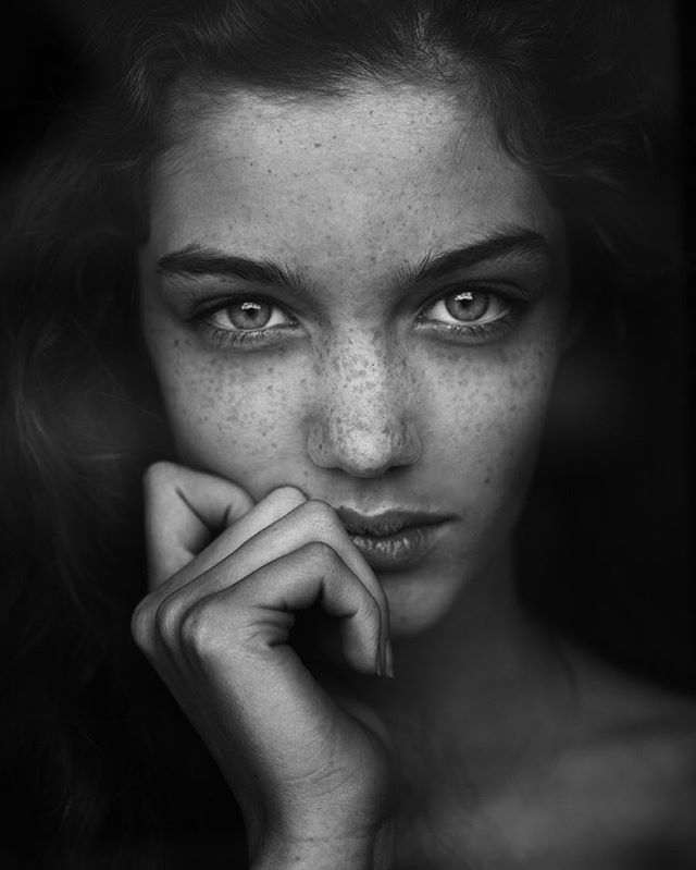 Eye · black and white photography portraitsphotography poses womenfreckle
