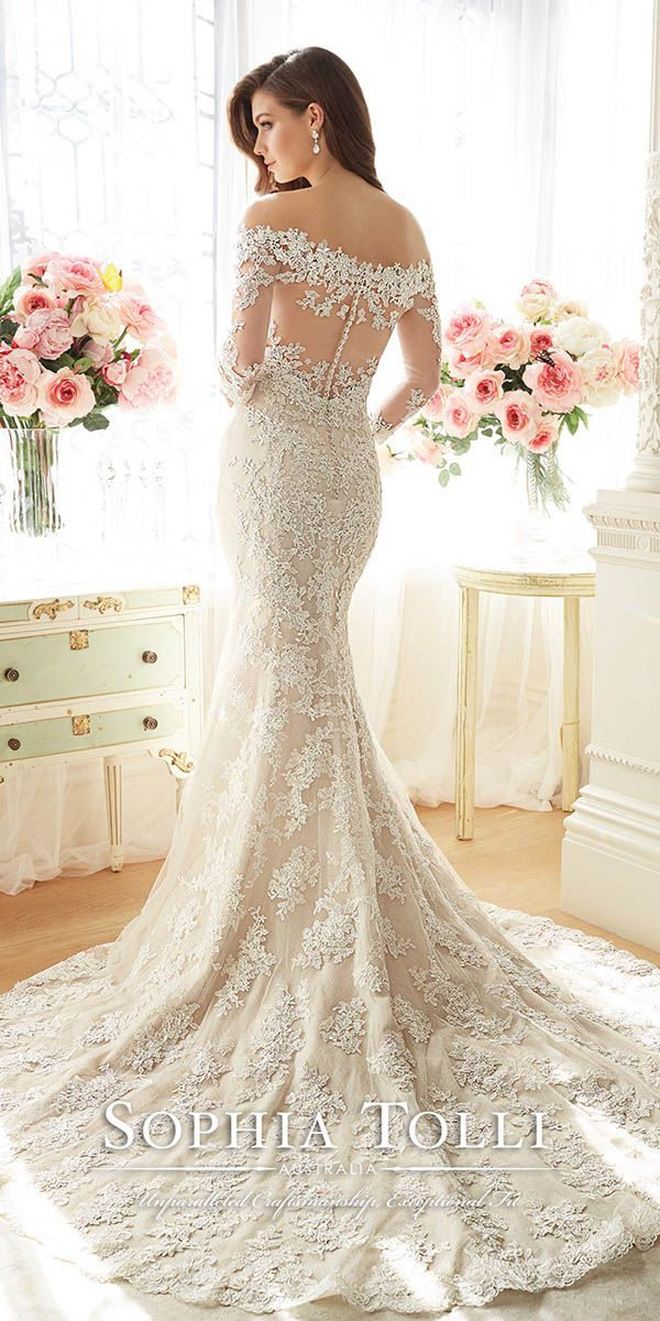 18 Best Sophia Tolli Wedding Dresses | Wedding dress, Scalloped lace ...