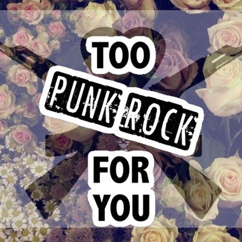 """Képtalálat a következőre: """"i was too punk rock for you"""""""