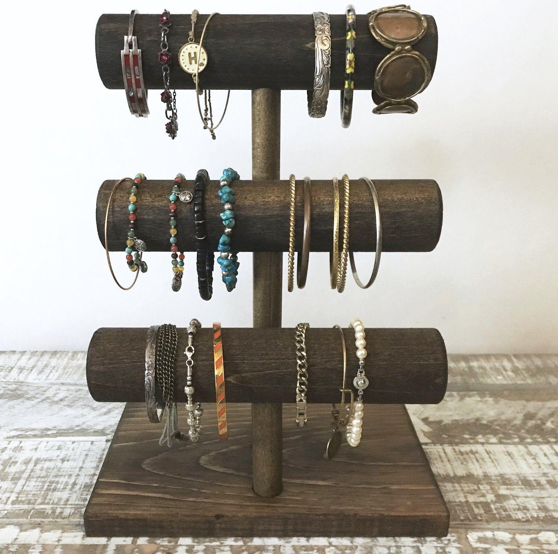Three Tier 8″ Wide T-Bar Jewelry Stand