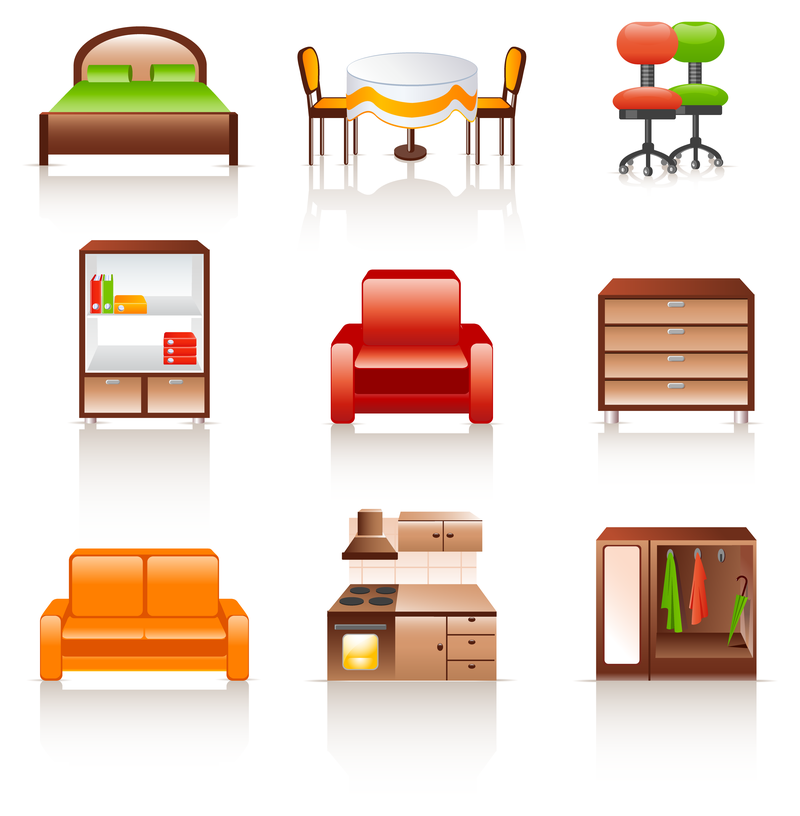 Furniture Icon Qvectors Front Page Icons Rounded Furniture Icon Vector Lds Round Furniture Colorful Furniture Interior Furniture