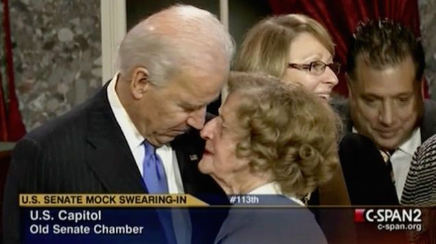Joe Biden, We Need to Talk About the Way You Touch Women