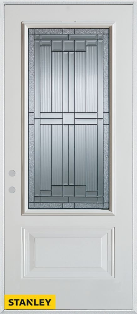 34 Inch X 80 Inch Architectural Zinc 3/4 Lite 1 Panel White Steel Entry Door  With Right Inswing | Basement | Pinterest | Products