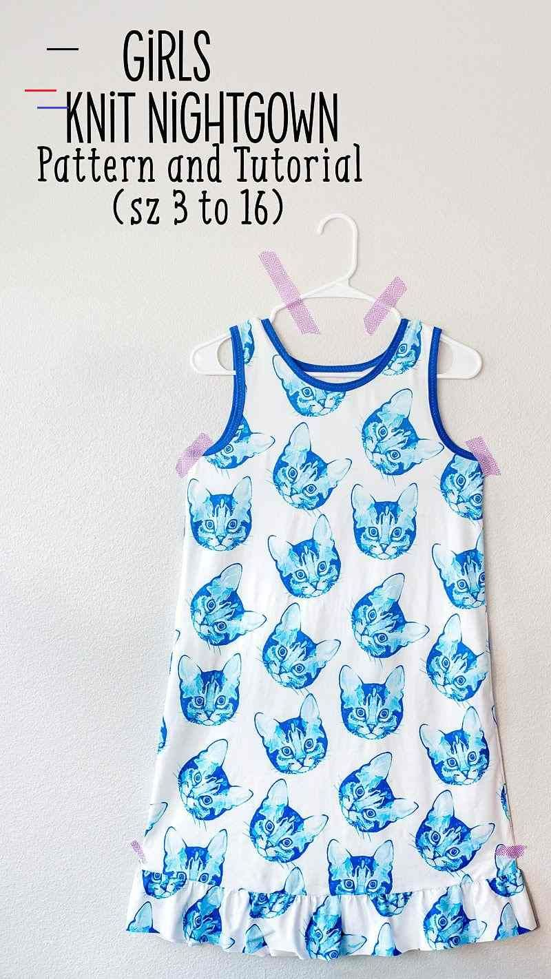 Super Easy Knit Nightgown Pattern and Tutorial - # ...