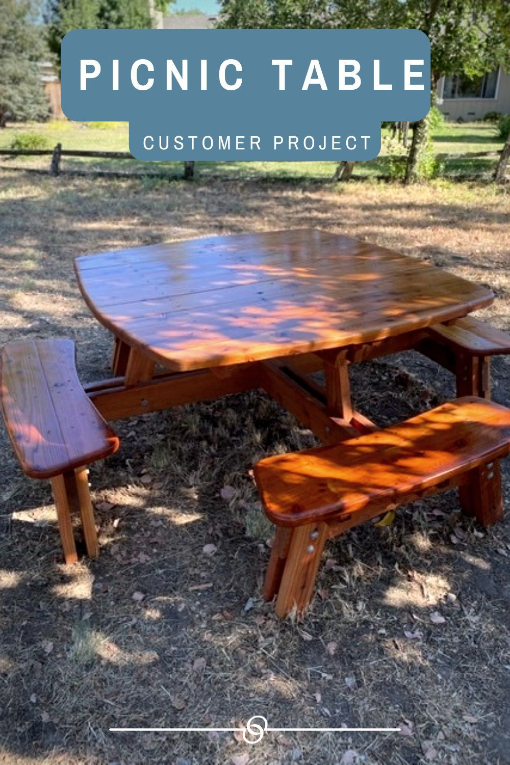Customer Project Picnic Table In 2020 Picnic Table Plans Picnic Table Cool Woodworking Projects