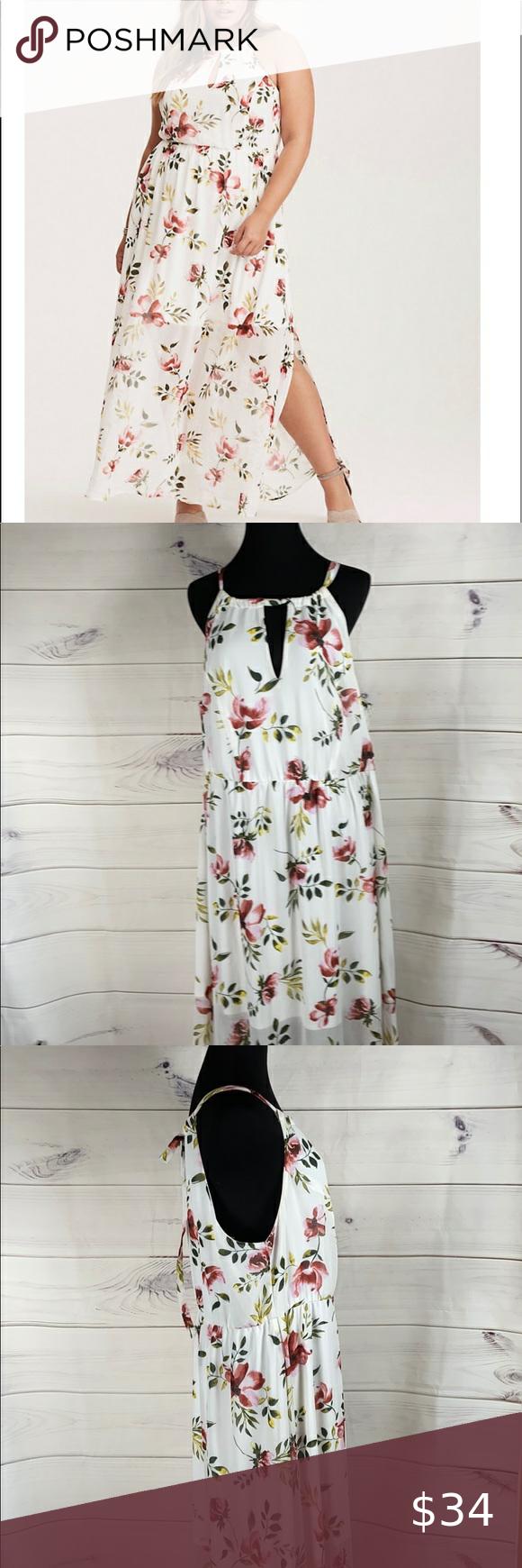 Torrid Floral Keyhole Cutaway Maxi Dress 2x Dresses 2x Maxi Dress Torrid Dresses [ 1740 x 580 Pixel ]