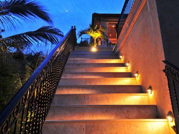 27 Attractive Outdoor Steps Lighting Designs Step Lighting Outdoor Step Lighting Outdoor Stair Lighting