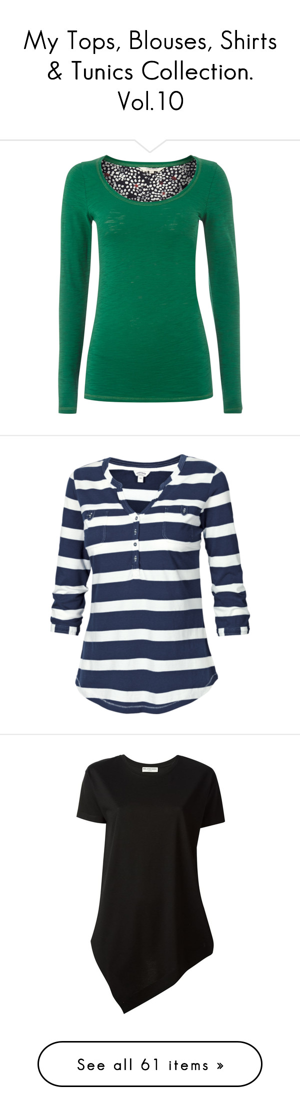 """My Tops, Blouses, Shirts & Tunics Collection. Vol.10"" by eve-stardust on Polyvore featuring tops, t-shirts, shirts, long sleeve shirts, clearance, green, scoop neck t shirt, white shirt, t shirts and white long sleeve shirt"