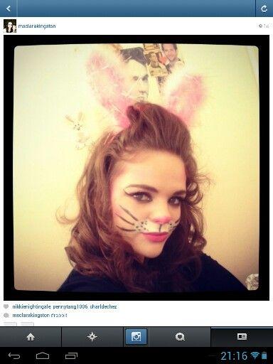 Rabbit makeup bunny rabbit face | Alice in Wonderland | Pinterest ...