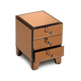 Allure by Jay Copper Mirror Jewelry Box 3 drawers JayCompanies