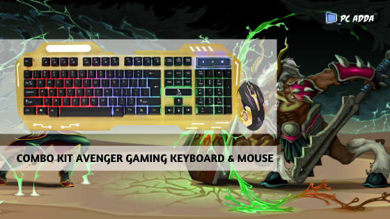 COMBO KIT AVENGER GAMING KEYBOARD & MOUSE QUICK OVERVIEW 1. 3 Color LED Keyboard 2. All-new floating keys designed for gaming 3. Greater durability compared to standard keyboard switches 4. Case Material: METAL & PLASTIC 5. Size: Standard 6. Interface: Wired USB 7. Multimedia Keys  #gamingmouse #gaming #gamingkeyboard #ps #gamingsetups #gamingpc #mousegaming #gaminggear #mouse #gamingstation  #pubg #gamingpost #life #gamingrig  #gamingchannel #gamingmemes #gamingroom #gamingposts #pcadda