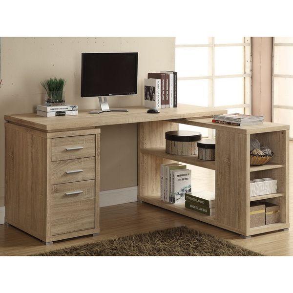 Sites Like Overstock For Furniture: Natural Reclaimed-look Corner Desk