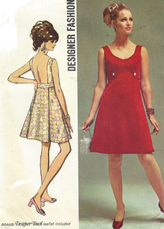 Evening Dress 60s Sewing Patterns