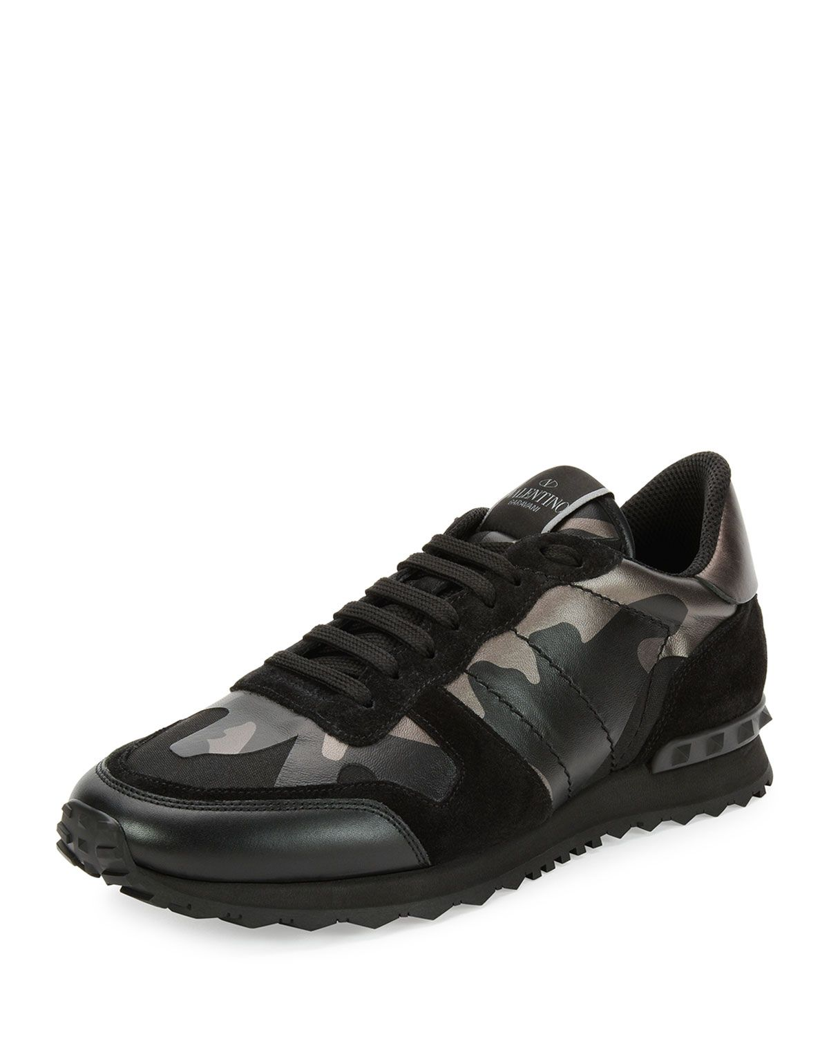 panelled camouflage sneakers - Red Valentino LbWoya