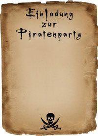 einladung piratenparty | lucie geburtstag | pinterest, Einladung
