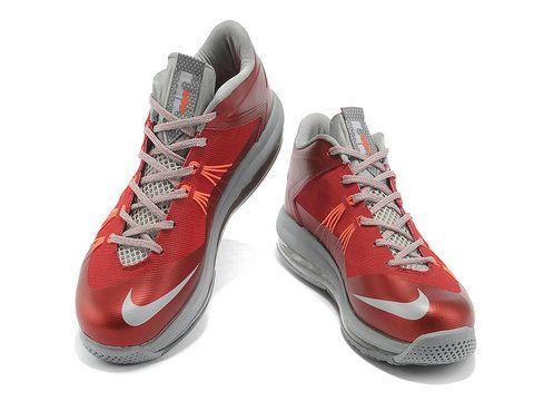 Nike LeBron 10 Low Red Cool Grey Orange