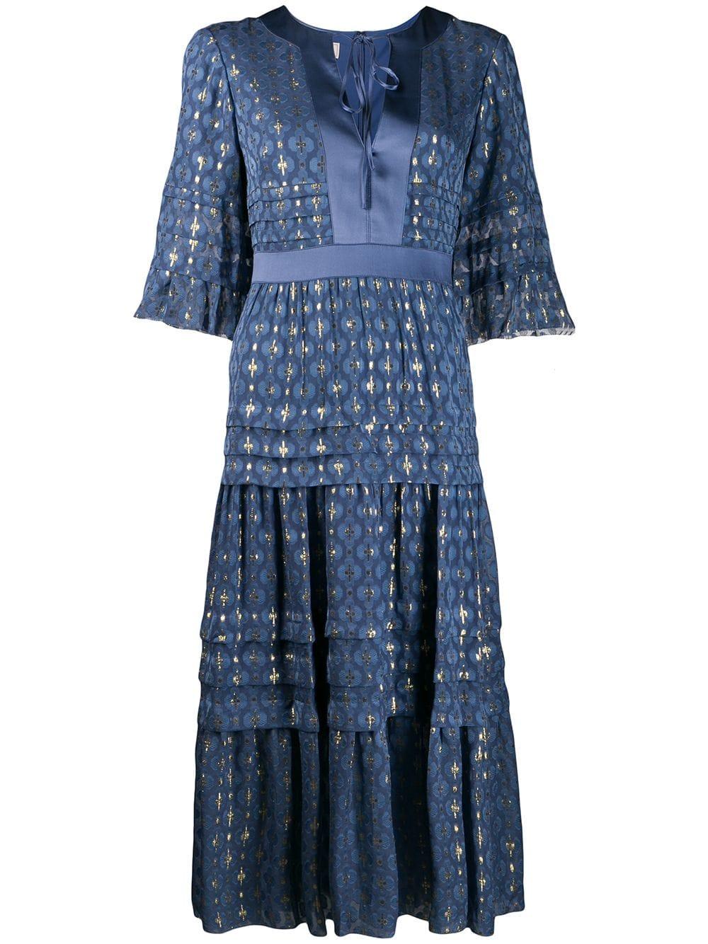 TEMPERLEY LONDON TEMPERLEY LONDON SUKI DAY DRESS – BLUE. #temperleylondon #cloth
