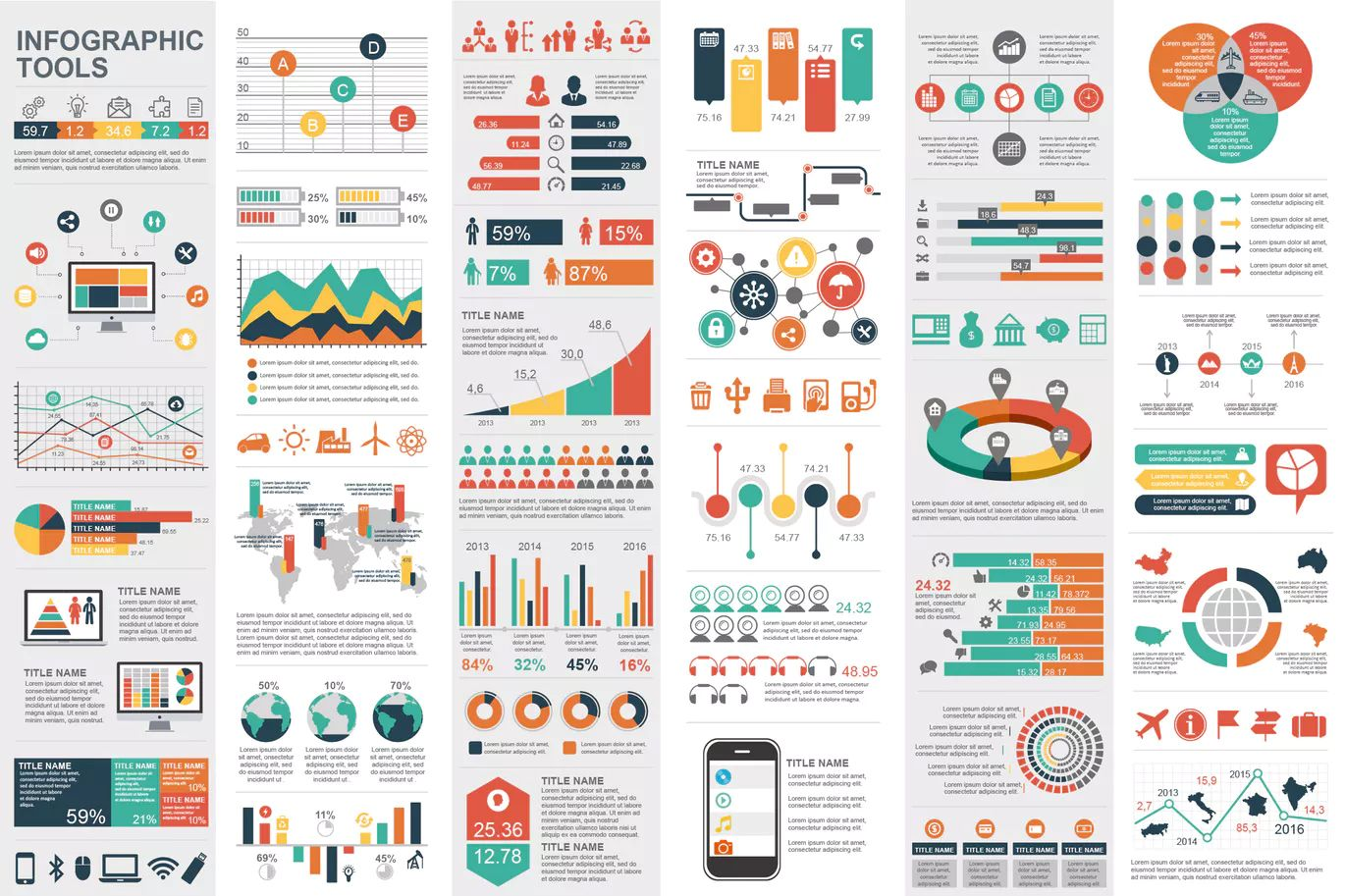 Marketing Infographic Elements Template AI, EPS, PNG, SVG