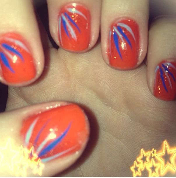 ORANGE FUN NAILS. Used: Cutex Fresh Colors in Tangerine, Charlotte ...