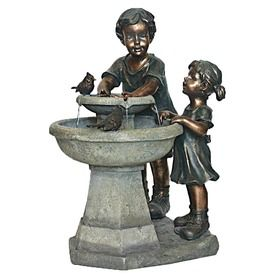 Delightful Garden Treasures Kids Outdoor Fountain With Pump At Lowes.