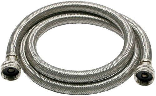 "Fluidmaster B9WM72HE High Efficiency Washing Machine Connector, Braided Stainless Steel - 3/4"" Hose Fitting x 3/4"" Hose Fitting, 6 Ft. (72"") Length by Fluidmaster. Save 15 Off!. $16.12. From the Manufacturer                Protect your home with a Fluidmaster Braided Stainless Steel Flexible Connector for High Efficiency Washing Machines. This 3/4-Inch female hose fitting by 3/4-Inch female hose fitting connector connects your washing machine to the wall water supply. Made from high ..."