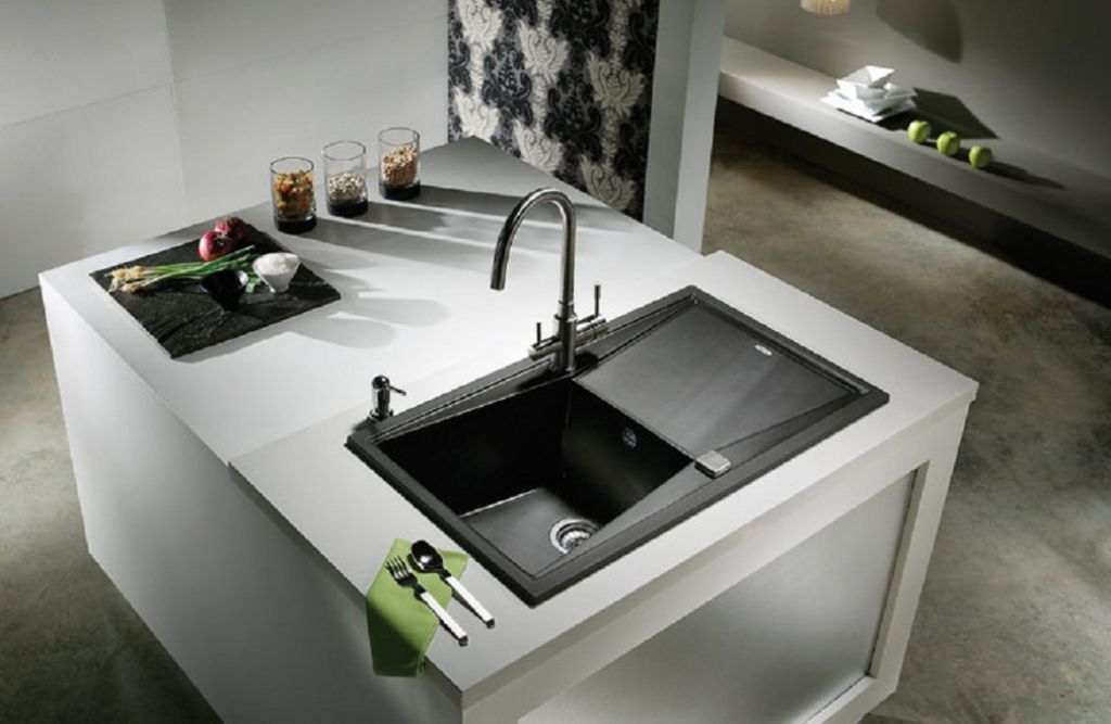 Black Kitchen Sinks Can Add A Touch Of Elegance | Black kitchens ...