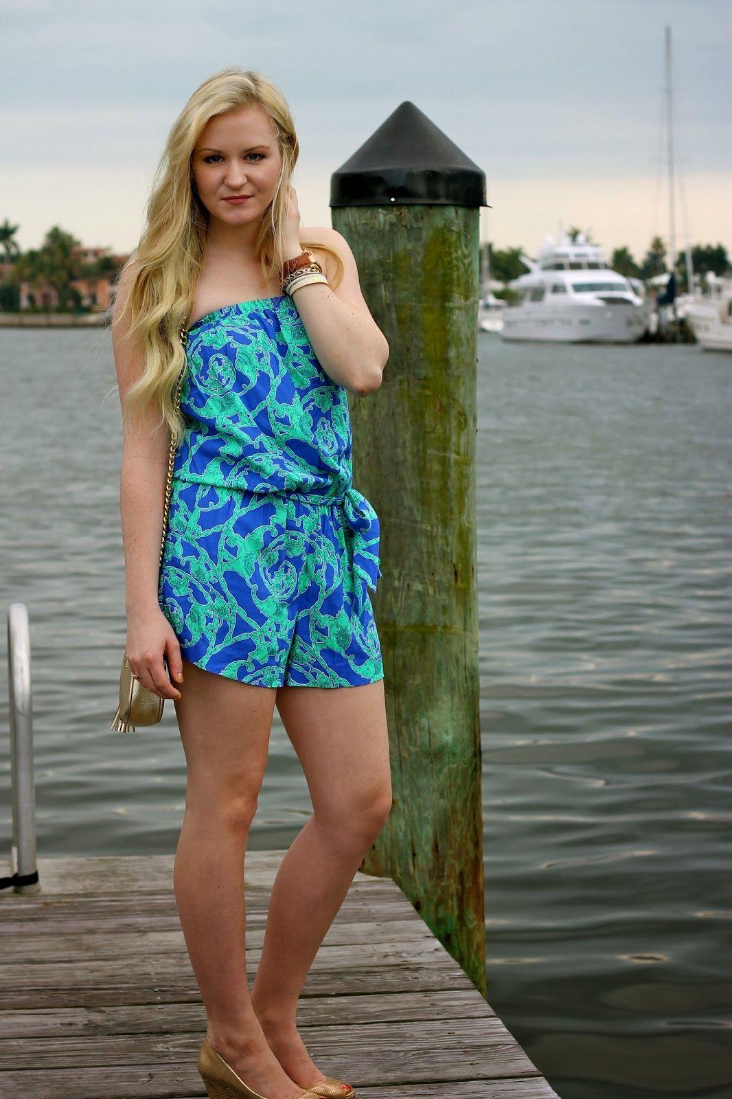 Devon Alana Design looking gorgeous in @Lilly Pulitzer Romper | My ...
