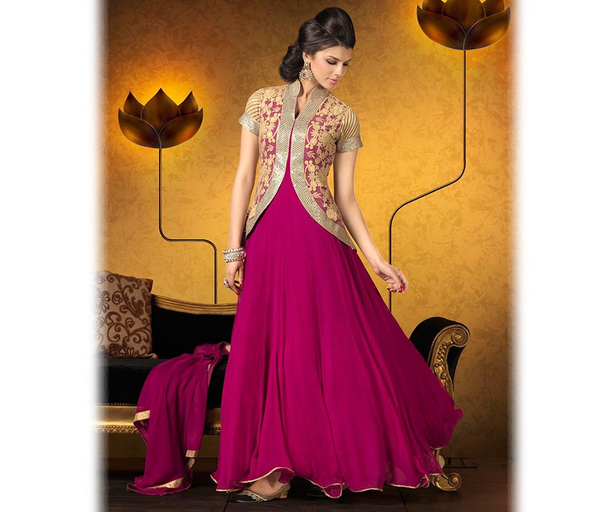 a9cfe7e047 Latest Indian Jacket Style Dresses & Gowns Anarkali Suits 2014-2015 for  Girls | GalStyles.com