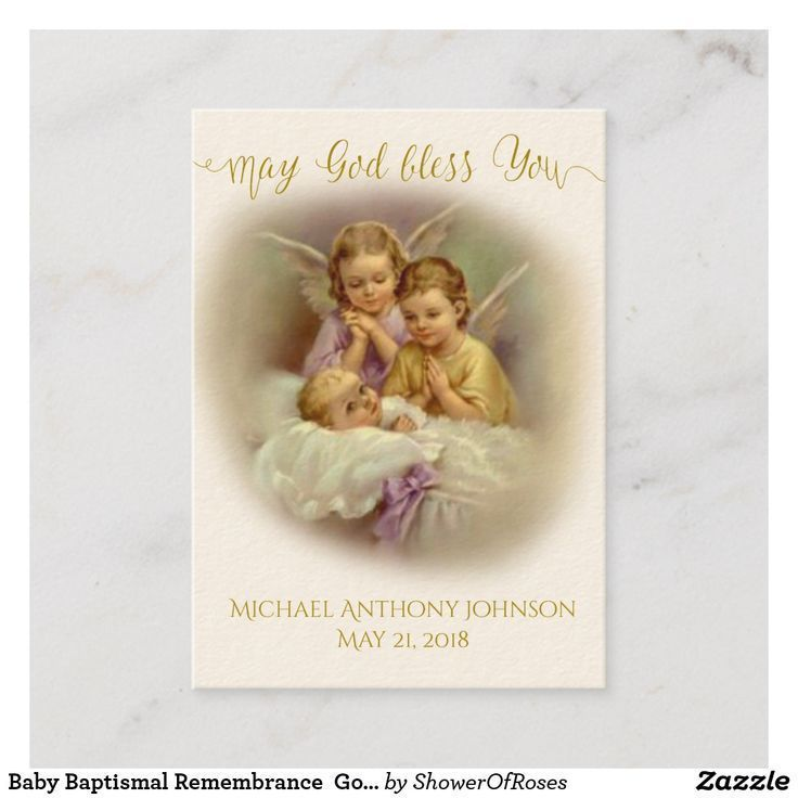 baby baptismal remembrance gold