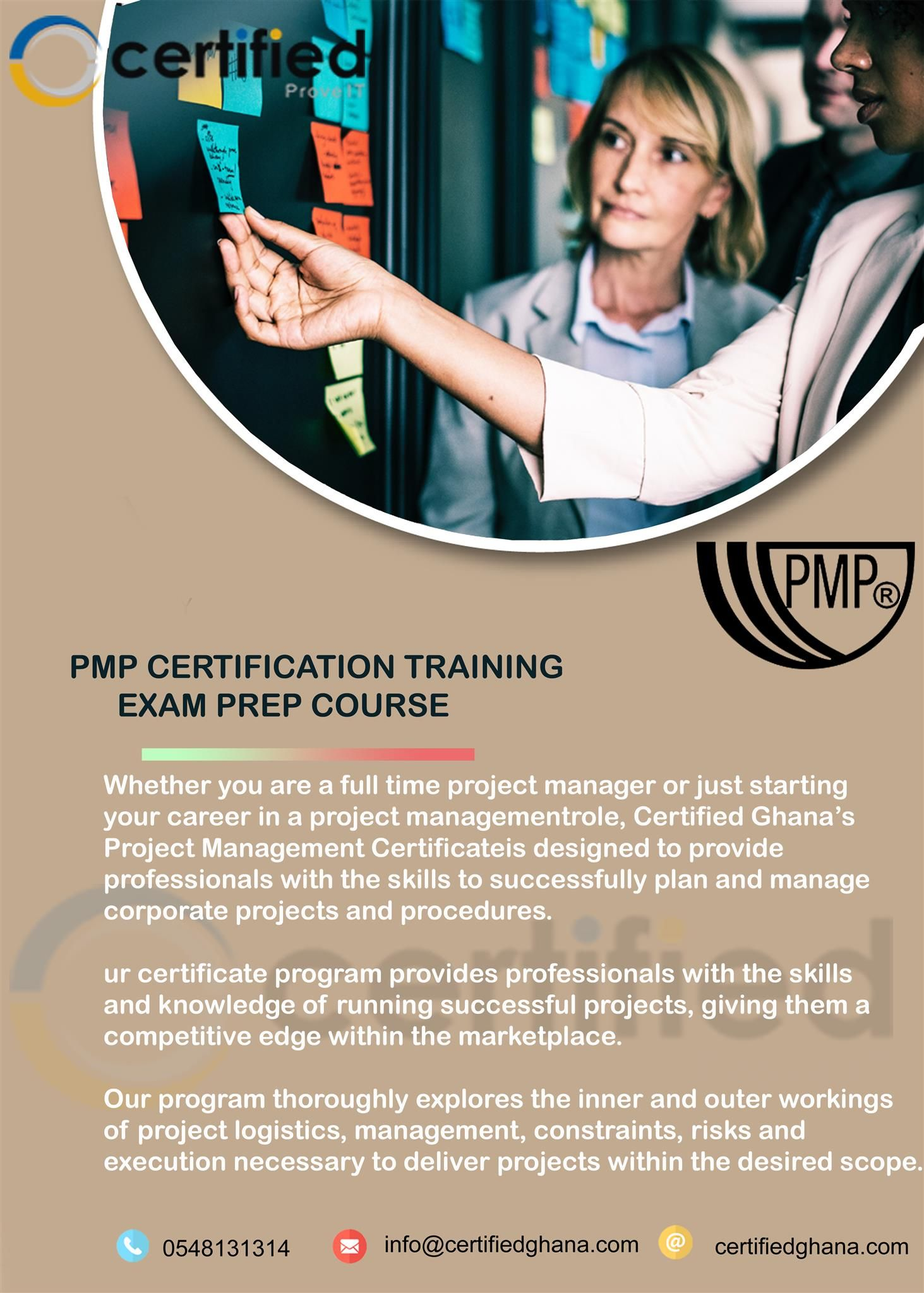 Pmp Certification Training Exam Prep Course In Ghana