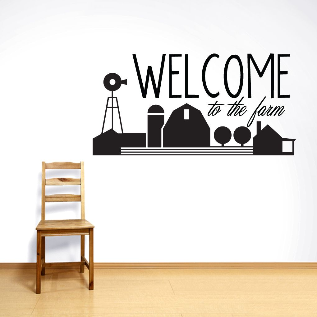Welcome To The Farm Wall Decal  sc 1 st  Pinterest & Welcome To The Farm Wall Decal | Wall decals Entryway wall and Farming